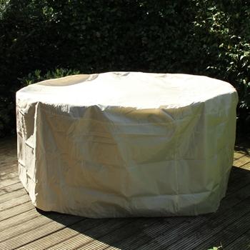 Pokrowiec Na Stół Okrągły Z Krzesłami Beżowy śred120 X